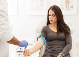 blood drawing for PRP treatment